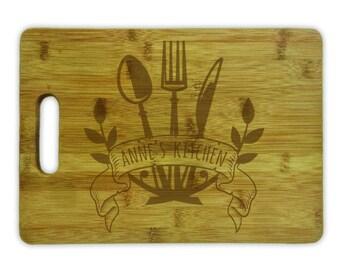Cutting Board Personalized- 8253 Utensil Design Personalized