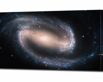 Spiral Galaxy Hubble Space Telescope Gift for Him Husband Gifts for Men Canvas Wall Art Print Ready To Hang Decor