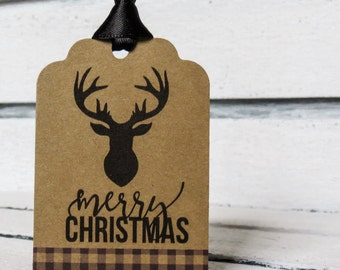 Rustic Merry Christmas Tags