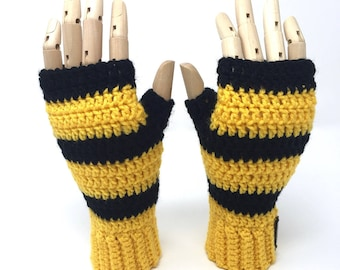 Magical School mitts, handmade crochet || Small, Medium, Large || Ready to Ship
