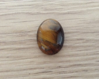Cabochon oval stone Tiger eye for 25 x 18 mm