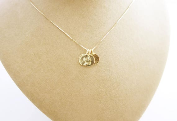 14k gold initials 3 initials pendant triple letter charm 14k gold initials 3 initials pendant triple letter charm necklace three initial pendant gold necklace personalized necklaceft ideas aloadofball Image collections