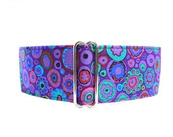 Purple Martingale Dog Collar, 2 Inch Martingale Collar, Greyhound Martingale Collar, Purple Dog Collar Dog Lover Gift Idea