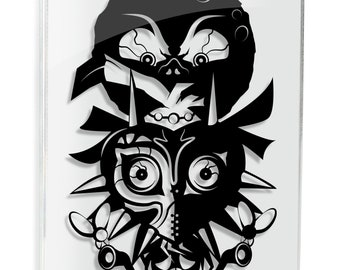 Legend of Zelda Majora's Mask Nintendo Majora's Zelda Link LOZ Triforce Ledgend of Zelda Zelda Art Skull Kid Art Will Pigg FRAMED