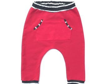 Red Harem Pants, Kids Pants, Harem Pants, Pants, Girls Harem Pants, boy harem pants, boys joggers, red sweatpants, red joggers