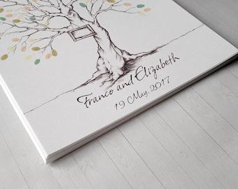 Printable fingerprint tree #Customizable Thumbprint tree #wedding Guestbook# christening fingerprint tree #birthday fingerprint