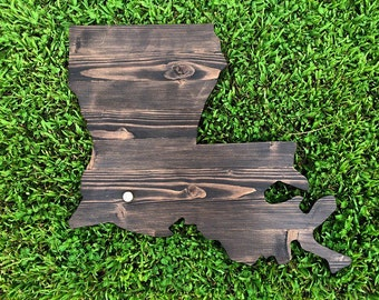 """Reclaimed Wood """"Love"""" State with .50 caliber casing over city of choice"""