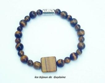 bracelet stone tiger eye for man