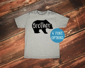 Brother Bear T-Shirt   Kids Brother Bear Shirt   Toddler Brother Bear Tee   Big Brother Shirt   Little Brother Shirt   Bear Family Shirts