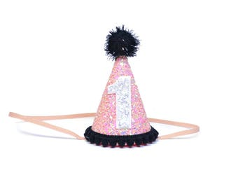First Birthday Outfit Girl Party Hat  || First Birthday Girl Outfit || Smash Cake Girl || 1st Birthday Party Hat || First Birthday Party Hat