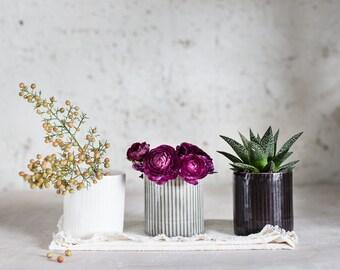 Ceramic Planter, Small Vase, Cactus Planter, Air Plant, Small Plant Pot, Modern Planter, Succulent Planter, Housewarming Gift