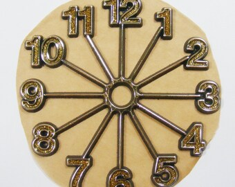Glitter Gold Clock Face Vintage Clock Face DIY Clock Face