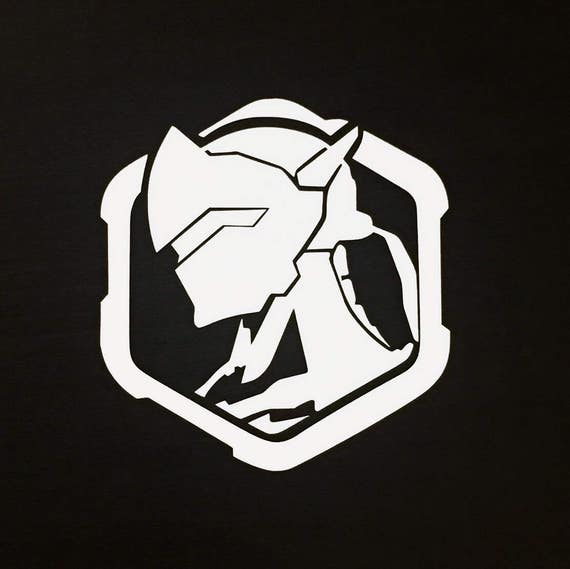 Genji Profile Spray Overwatch Decal Sticker Vinyl Car