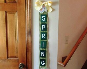 Handmade Burlap Spring Sign, Wall Spring sign, Wall art home decor