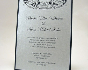 Tattoo Banner Wedding Invitation