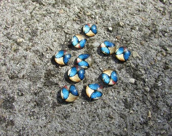 Round cabochon 10 X 10 mm Butterfly pattern