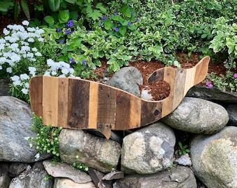 Reclaimed Wood Whale Home Decor