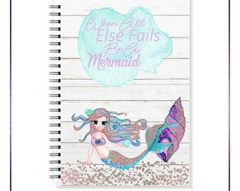 Be A Mermaid Spiral A5 Notebook