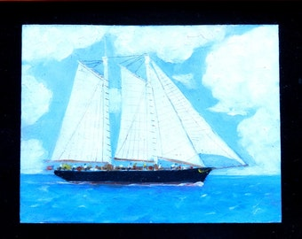 America's Cup #1, Paintings of sailboats, sailing, sailboats, sailboat paintings, man created a very beautiful and useful thing, sailboats