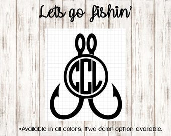 Lets go Fishin' Monogram ~ Country Collection