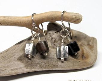 Tiger ebony wood Earrings