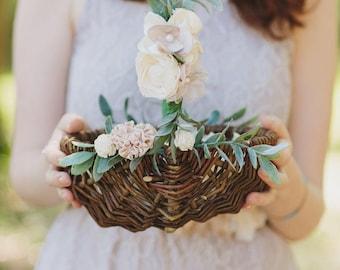 DIY Tulle Flower Girl Basket