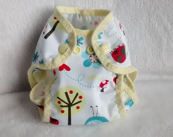 Pair of protective waterproof pul cloth diaper for XS