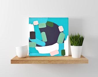 SALE: colorful abstract painting - tiny painting - modern minimal art - mini art
