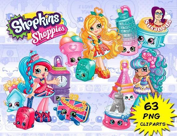 SHOPKINS cliparts Shopkins World Vacation Cliparts Pack