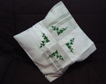 Ecru cotton Cushion cover and ticking, with handpainted design