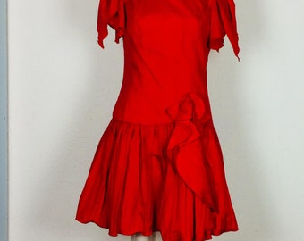 Vintage petticoatdress | petticoatdress | red cocktaildress | vintage eveningdress | vintage cocktaildress | waist 40 cm | size S/M