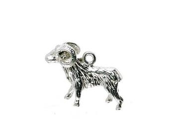 Sterling Silver Zodiac Aries Charm For Bracelets