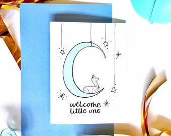 Welcome little one // new baby card