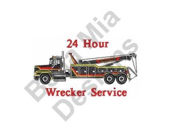 Truck  - Machine Embroidery Design, Wrecker Service