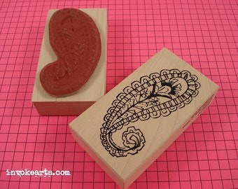 Paisley 1 Stamp / Invoke Arts Collage Rubber Stamps