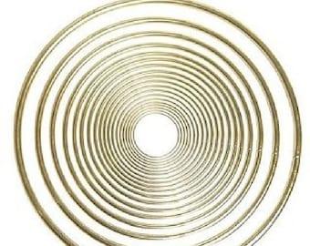 Pepperell 6 Inch Brass Ring