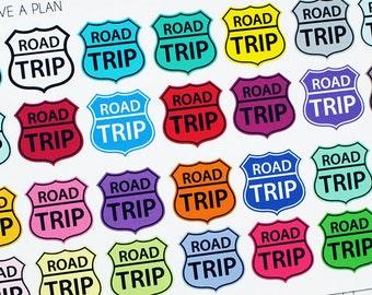 Planner Stickers Road Trip Sign for Erin Condren, Happy Planner, Filofax, Scrapbooking
