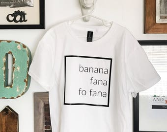 Banana Fana Square Vinyl Shirt