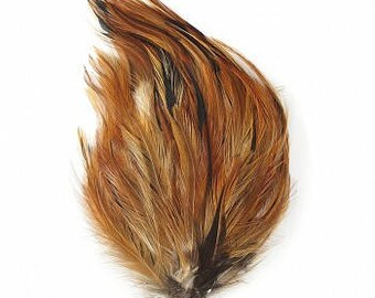 1DZ Natural Hackle Feather Pads P595F--N
