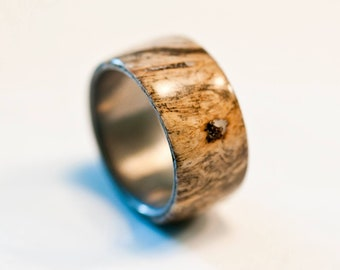 Wood Burl and aluminum rings