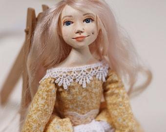 Art doll artists dolls artdolls art doll girl gift for girl doll - ooak doll My Tenderness - art clay doll decorative art doll ooak art doll