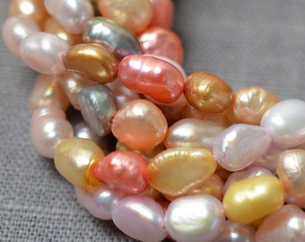 Freshwater Pearl Baroque pearl Multi Color Loose Pearl beads 5.5 X 8.0 mm 55pcs Full Strand Item No : PL1172