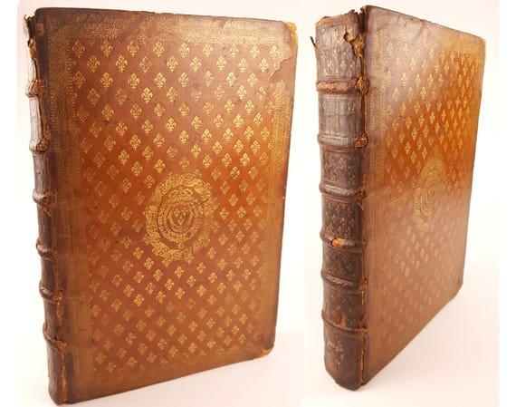 1685 Louis XIV folio presentation binding. Notitia Ecclesiastica by Jean Cabassut.