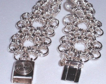 Chain Maille Sunflower Bracelet