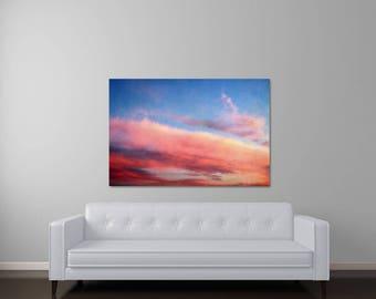 Sunset Art, Abstract Art, Canvas Wall Art, Abstract Photography, Pink Art, Blue Art, Modern Canvas, Abstract Canvas Prints, Dreamy