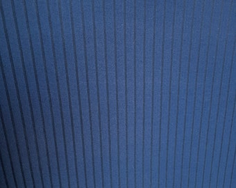 4-Way Stretch Textured Stripe Scuba Fabric - Navy