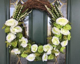Front Door Wreath - Spring Wreaths for Front Door Wreath - Spring Wreaths - Summer Wreaths for Front Door - Summer Wreaths - Green Wreaths