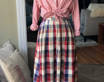 Vintage Checkered High Waisted Skirt