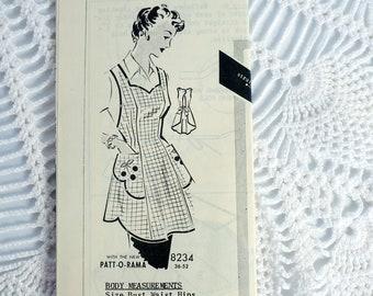 Vintage Mail Order Sewing Pattern- Patt-O-Rama Patterns 8234 Ladies Apron Size 36 Bust 38