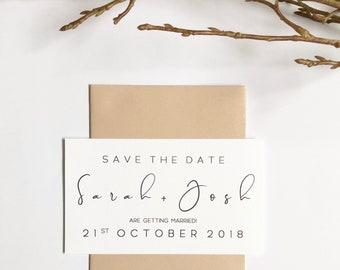 B R I L L I A N T   S I M P L I C T Y | Save The Date Invitations | Printed Invitations | Getting Married | Weddings